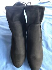Black Wedge Suede BOOTIE BOOTS Sz 11.  Chinese Laundry. Cute Boots Women's Boots