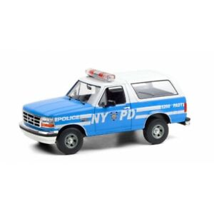 GREENLIGHT 19087 Ford Bronco New York Police Department NYPD 1992 1/18