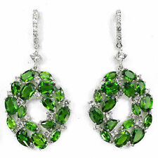 Chrome Diopside Natural Round Fine Earrings