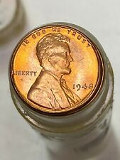 1948 P OLD HOARD AVERAGE BU UNCIRCULATED LINCOLN WHEAT CENT ROLL