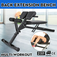 Fitness Hyper Extension Bench Roman Chair Sit Up Crunches Back Training Home Gym