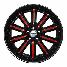 4 GWG Wheels 20 inch Black Red NARSIS Rims fits CHRYSLER TOWN AND COUNTRY 2000
