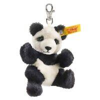 Steiff 9cm Panda Keyring Black White