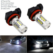 2pcs H11 High Power LED White 80W Fog Light Daytime Bulb For VW AUDI Error Free