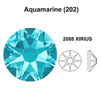 AQUAMARINE (202) lake blue Swarovski 2058 & 2088 Flatback Rhinestones *Pick Size