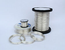 SILVER PLATED COPPER WIRE 0.8mm 20 GAUGE NON TARNISH 500grams  HIGH QUALITY 111m