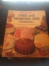 Betty Crocker's Cake and Frosting Mix Cookbook 1966 1st Edition, 1st Printing