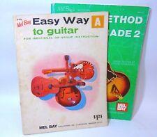 Mel Bay's Guitar Method Books A & Grade 2 Instructions Lessons Easy Modern Lot