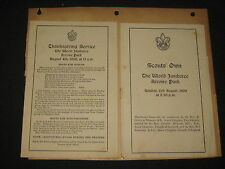 1929 World Jamboree Religious Service Programs with Edinburgh items   PKS
