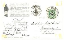 NORWAY 1918  POLHAVET  SPEC PPC + POSTMARKS  F/VF = STAMP SPEC  CUT OUT PERF