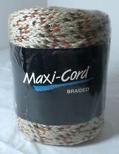 New listing Maxi-Cord Tan, Orange & Red Braided Polypropylene 6mm 100 Yds Macrame/Crafts Usa