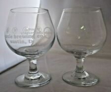 Circle Brewing Company 4th Anniversary Beer Glasses Stemmed Austin Texas Craft