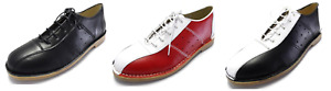 Ikon Original Mens Leather Marriot Mod 60S Style Bowling Shoes In 3 Colours