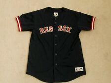 BOSTON RED SOX #33 VARITEK BLUE MLB SEWN BASEBALL JERSEY MAJESTIC BOYS L