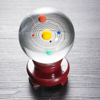 80MM Solar System Model Crystal Ball Laser Engraved Planet Glass Ball Gifts