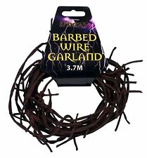 Henbrandt Spooky Garland Barbed Rusty Wire Halloween Accessory 3.7m