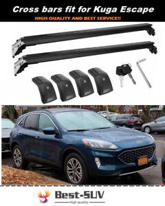 2Pcs Fits for Ford Escape 2020 2021 Aluminum Roof Rail Rack Cross Bars Crossbars