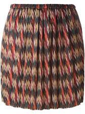Isabel Marant Étoile Hanoi Ikat Print Pleated Skirt Size Small S
