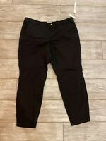 NWT Caslon Women Dress Pants Size 18 black Stretch button closure