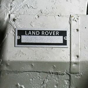 Land Rover Identification Dataplate Serial Number ID Tag Series 2 3 Defender LWB
