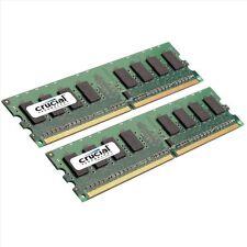 Crucial 4GB 2X2GB Doppio Canale DDR2 800MHz PC3-6400 DIMM del Desktop