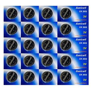 ENVOI SOUS SUIVI EUNICELL Lot 20 Piles CR2032 BR2032 DL2032 2032Lithium  3V