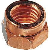 25pcs M8X1.25 COPPER PLTD EXHAUST MANIFOLD LOCK NUTS 12mm WRENCH SIZE, DIN 14441