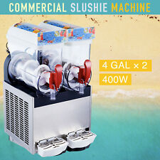 Frozen Drink Machine 400W Commercial Slushie and Margarita Maker 2 x 4 Gal
