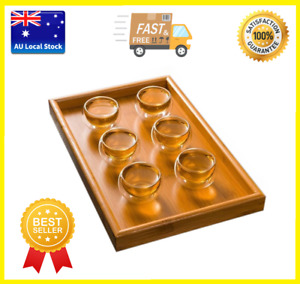 Pack of 6 Double Wall Small Glass Tea Cup Bar Shots Wine Cup 50ml