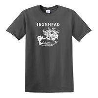 IRONHEAD Engine T-SHIRT - Harley Davidson Biker Sturgis
