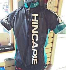Hincapie Womens Large Short Sleeve Race Jersey Brand New Black/Turquoise!