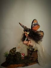 "OOAK art doll Fairy fantasy sculpture ""Tiana"" sculpted polymer clay by Saahra"