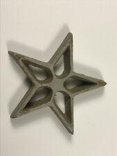 Antique Iron Star extruder? coockie cutter? pattern?