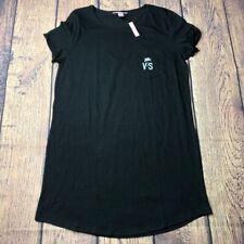Victoria Secret Womens Small Logo Shirt Dress Short Sleeve NEW