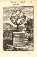 ARMILLARY SPHERE. Cercles. Tropics. Arctic/Antarctic circle. MALLET 1683 print