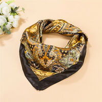 Women's Stylish Satin Square Scarf Bandana Neckerchief Head Neck Wrap Scarves