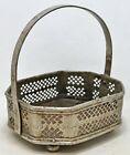 Antique Brass Temple Flowers Basket Original Old Fine Hand Crafted Engraved