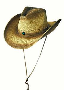 Scippis Clancy brown Western Strohhut Cowboyhut Sommer Sonne Strand Hut Schatten