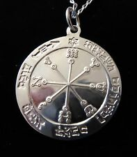 STERLING SILVER PROTECTION TALISMAN Occult Magic Amulet Magick Witchcraft Wicca