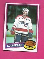 1980-81 TOPPS # 195 CAPITALS MIKE GARTNER  ROOKIE EX-MT  CARD (INV# D1474)
