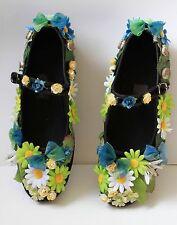 FLOWER FAIRY FATA FOGLIA VERDE Scarpe di Alice Festival Lolita Kawaii pastel goth 38 5