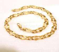 Unisex Bling 18K Yellow Gold Plated 50cm Special Necklace Chain Link 19.5 inches
