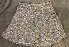 H&M Patterned A Line Skirt, Size 8