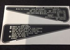 HONDA CB250RS FOOTREST PLATE CAUTION DECALS