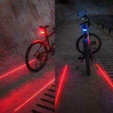 Luz Trasera Bicicleta Advertencia Seguridad Luces 5 Led y 2 Laser Ciclismo MTB