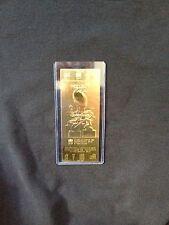 San Francisco 49ers vs. Cincinnati Bengals Super Bowl XVI 22kt Gold Ticket (NEW)