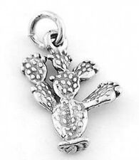 STERLING SILVER PRICKLY PEAR CACTUS CHARM/PENDANT