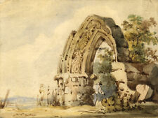 M.G.S. Robarts, Topographical Sketch of Norman Arch – 1839 watercolour painting