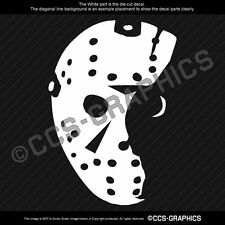 JASON VOORHEES Mask Decal Friday 13th halloween sticker window horror