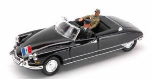 Citroen DS Cabriolet Djibouti General Charles De Gaulle 1959 1:43 Model Rio